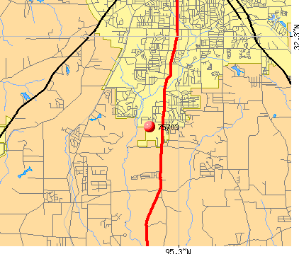 Tyler, TX (75703) map