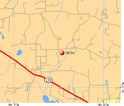 Poynor, TX (75770) map