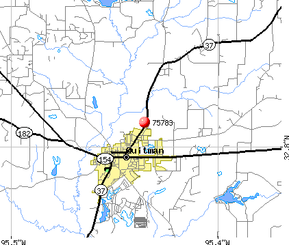 Quitman, TX (75783) map