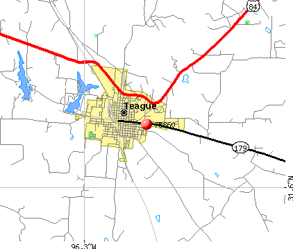 Teague, TX (75860) map