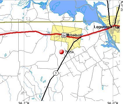 Joaquin, TX (75954) map