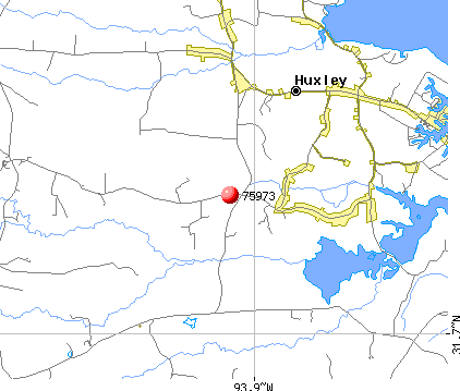 Huxley, TX (75973) map