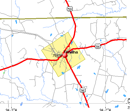 Tenaha, TX (75974) map