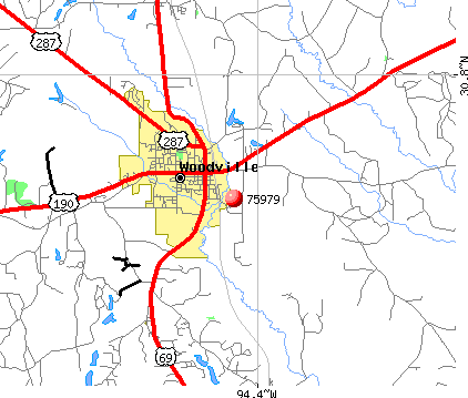 Woodville, TX (75979) map