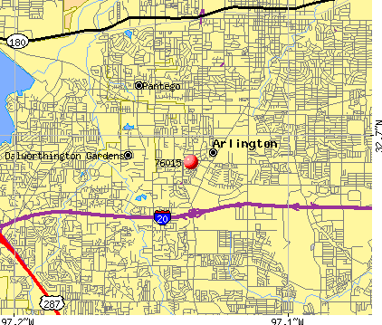 Arlington, TX (76015) map