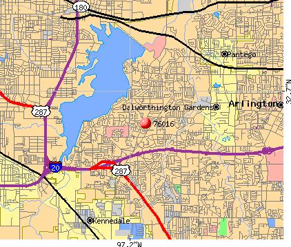 Arlington, TX (76016) map