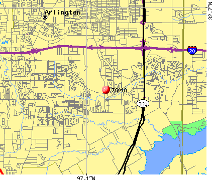 Arlington, TX (76018) map