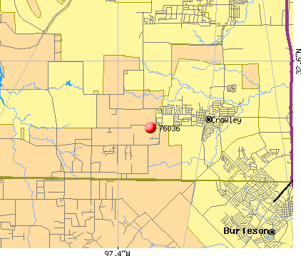 Fort Worth, TX (76036) map