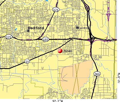 Euless, TX (76040) map