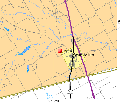 Grandview, TX (76050) map