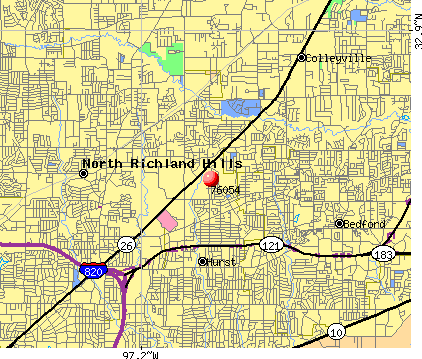 Hurst, TX (76054) map