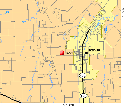 Joshua, TX (76058) map
