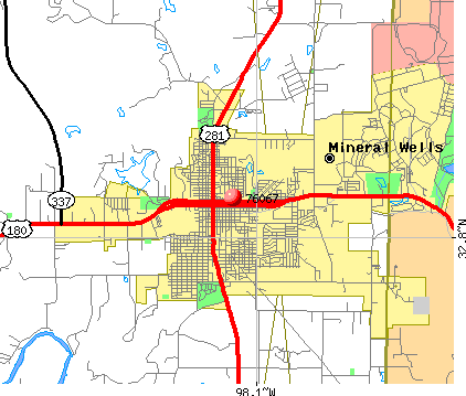 Mineral Wells, TX (76067) map