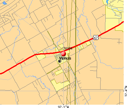 Venus, TX (76084) map