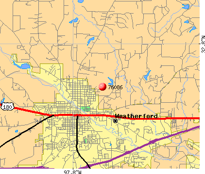 Weatherford, TX (76086) map