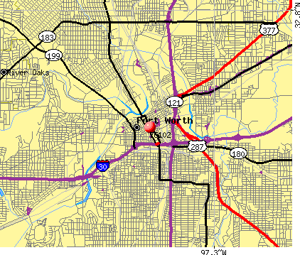 Fort Worth, TX (76102) map
