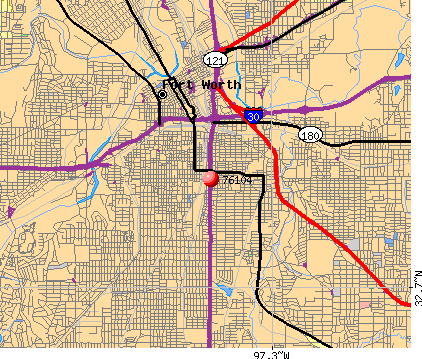 Fort Worth, TX (76104) map