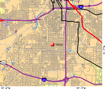 Fort Worth, TX (76110) map