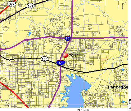 Fort Worth, TX (76112) map