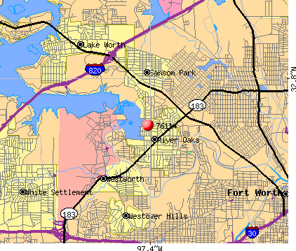 Fort Worth, TX (76114) map