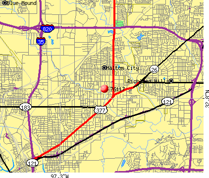 Haltom City, TX (76117) map