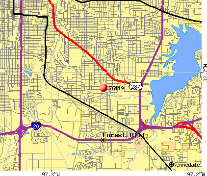 Fort Worth, TX (76119) map