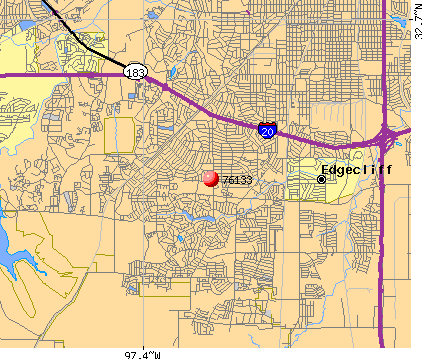 Fort Worth, TX (76133) map