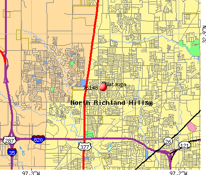Watauga, TX (76148) map