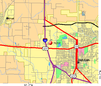Denton, TX (76207) map