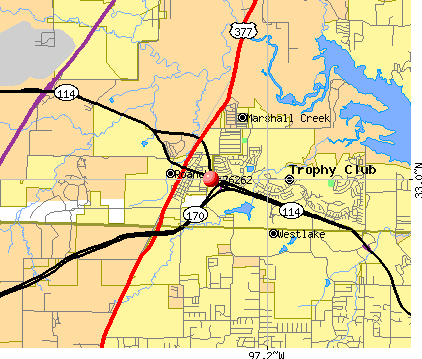 Westlake, TX (76262) map