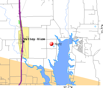 Valley View, TX (76272) map