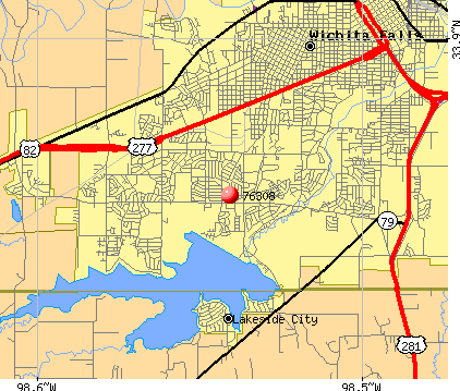 Wichita Falls, TX (76308) map