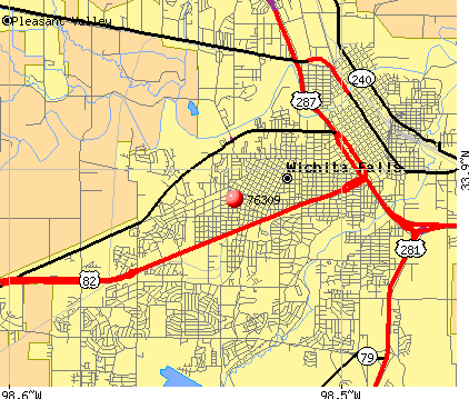 Wichita Falls, TX (76309) map