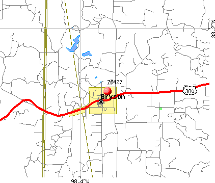 Bryson, TX (76427) map