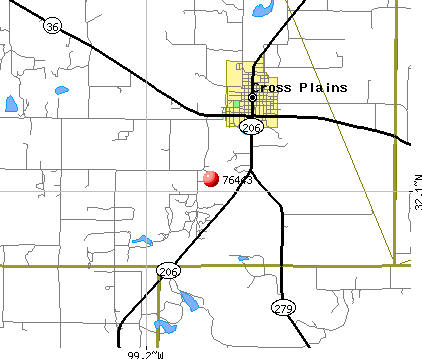 Cross Plains, TX (76443) map