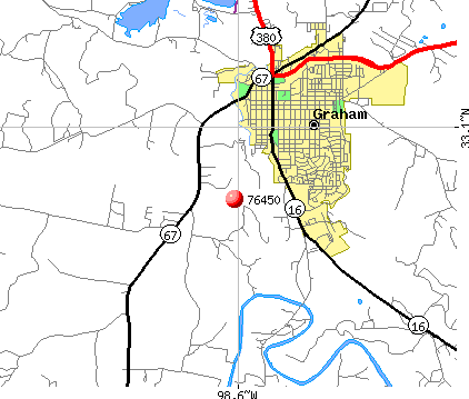 Graham, TX (76450) map