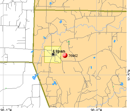 Lipan, TX (76462) map