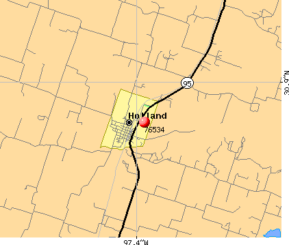 Holland, TX (76534) map