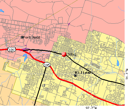 Killeen, TX (76541) map