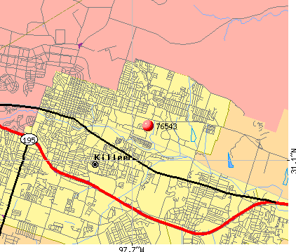 Killeen, TX (76543) map