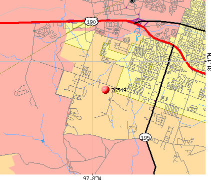 Killeen, TX (76549) map