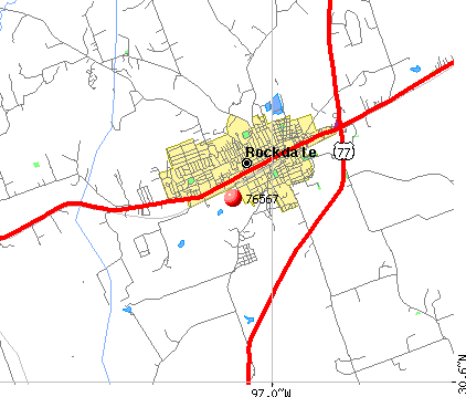Rockdale, TX (76567) map