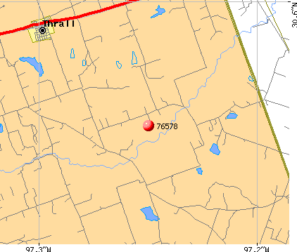 Thrall, TX (76578) map