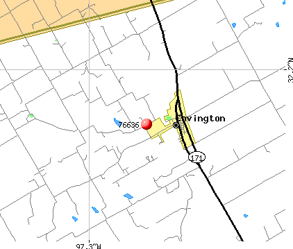 Covington, TX (76636) map