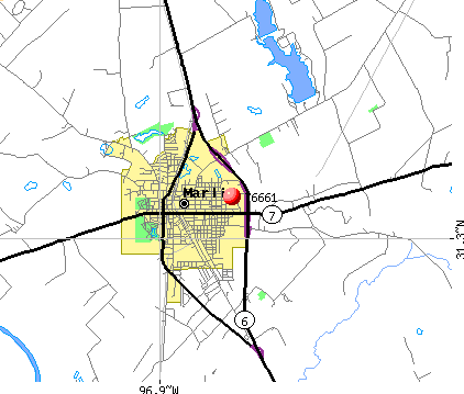 Marlin, TX (76661) map