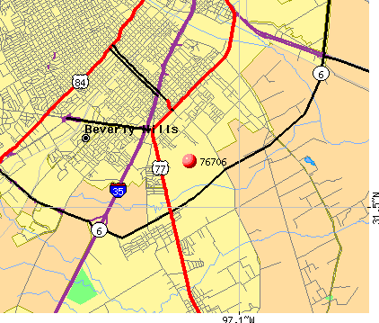 Robinson, TX (76706) map