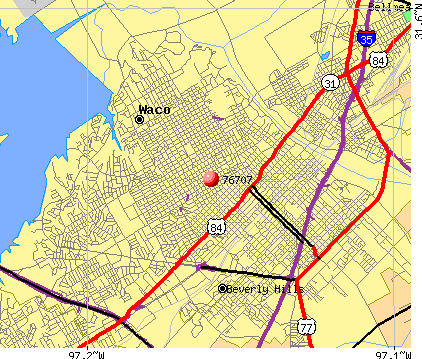 Waco, TX (76707) map