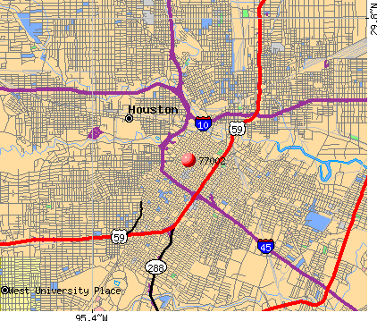 Houston, TX (77002) map