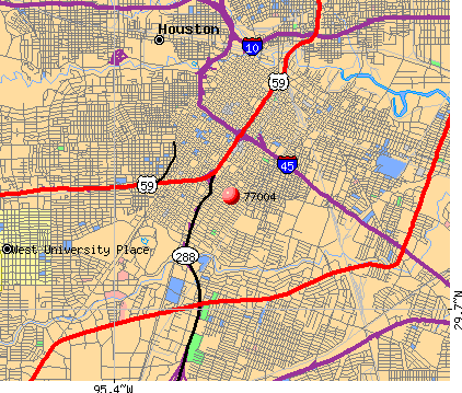 Houston, TX (77004) map