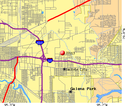 Houston, TX (77013) map